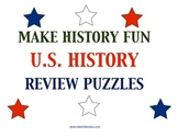13 U.S. History Review Puzzles Plus 6 Puzzle Templates