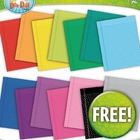 FREE 14 Rainbow Notebook Paper Set 2 Clipart