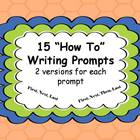 "15 ""How To"" Writing Prompts"