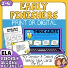 150 ELA - Themed Creative and Critical Thinking Cards