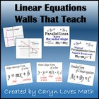 16 Posters-Walls That Teach-Linear Equations-Graphs-Slope-