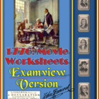 1776 Movie Questions -- Examview TestBanks -- 57 Questions!