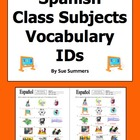 18 Spanish Class Subjects / Classes Vocabulary IDs