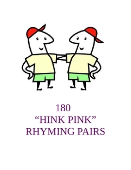 180 Hink Pinks: Giant Collection for Each Day of the School Year