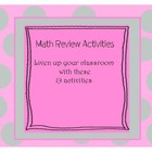 19 Math Review Activities