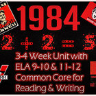 1984 Nineteen Eighty-Four (Orwell):3-4 Week Unit w/ ELA 9-