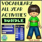 1st 200 Fry Vocabulary Words Color-Coded Activities BUNDLE
