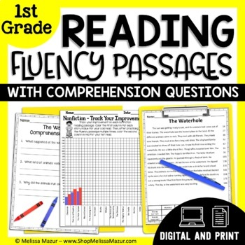 1st Grade - 30 Reading Fluency and Comprehension Passages