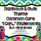"1st Grade Common Core ELA ""I Can"" Statements - Rainbows &"