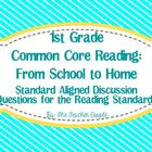 1st Grade Common Core Reading Discussion Questions: From S
