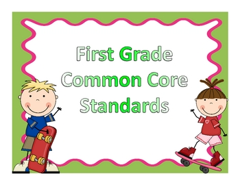 1st Grade Common Core Standards