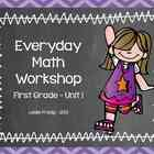 1st Grade Everyday Math Workshop Plans for Unit 1