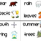 1st Grade Houghton Mifflin Vocabulary Cards for Themes 1-4