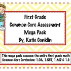 1st Grade Math Common Core Assessment Mega Pack