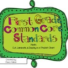 "1st Grade Math Common Core Standards & ""I Can"" Statements"