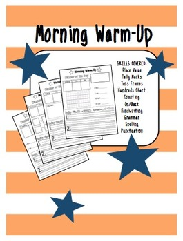 1st Grade Morning Warm-Up Work