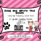 1st Grade REading Street, Unit R, week 1-3  Read the Room