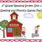 Reading Street 1st Grade Unit 1 Spelling & Phonics Game Pa