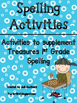 1st Grade Treasures Reading Series Spelling Supplement
