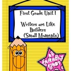 1st Grade Writing Unit 1 Charts and Lessons