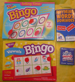 1st and 2nd Grade Games: Tell time & vowels bingo, sight w