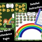 2 Attendance March St. Patricks's Day Interactive Smartboa