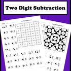 2 By 2 Digit Subtraction Color Worksheet