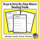 "2 Day Mini-Lesson & Student Reading Guide for ""Boys and Girls"""