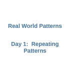 2 Day Pattern PowerPoint