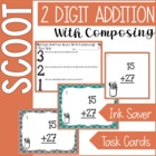 2 Digit Addition SCOOT with composing (aka regrouping)