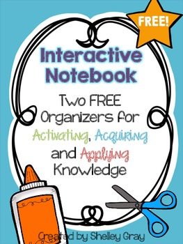 2 FREE Interactive Notebook Activities: Activating, Acquiring and Applying