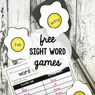 2 Fun-Filled Sight Word Games - Free Printable