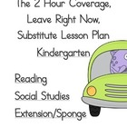 2 Hour Substitute Lesson Plan, Kindergarten, Set 1 Reading