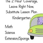 2 Hour Substitute Lesson Plan, Kindergarten, Set 2 Math/Science