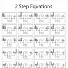 2 Step Equations Worksheet (Black & White)