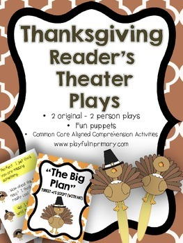 2 Thanksgiving Reader's Theater Plays: 2 Parts