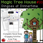 #20 Magic Tree House- Dingoes at Dinnertime Novel Study