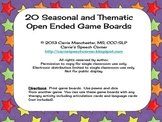 20 Seasonal and Thematic Open Ended Board Games