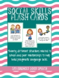 20 Social Skills Flash Cards to Build Pragmatic Language