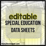 20 Special Education Data Sheets {EDITABLE}