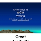 20 Ways to WOW Writing
