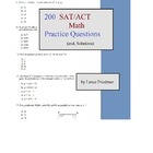 200 SAT/ACT Math Questions (and solutions)