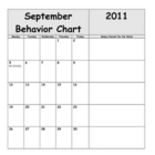2011-2012 Simple Behavior Calendars