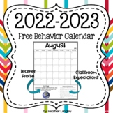 2013-2014 School Year Calendar with Monthly IB Attitudes