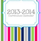 2013-2014 Editable Curriculum Planning Calendar {Chevron B