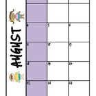 2013-2014 Monthly Teacher Calendar Pages (color version wi
