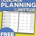2013-2014 Teacher Planning Calendar Template
