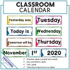 2014 Classroom calendar display