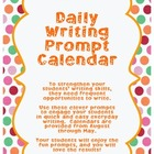 2013-14 Daily Writing Prompt Calendars