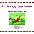 2013  Kindergarten K Next Generation Science Standards NGS